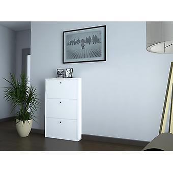 Scarpiera Classy 4 Color Bianco in Truciolare Melaminico, Plastica, Ferro 72x15x110 cm