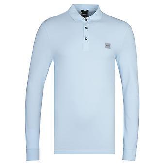 BOSS Passerby Slim Fit Blue Polo Shirt