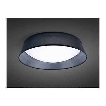 Ceiling Light Nordica 30w Led 60cm Black 3000k, 3000lm, White Arylic With Black Lampshade