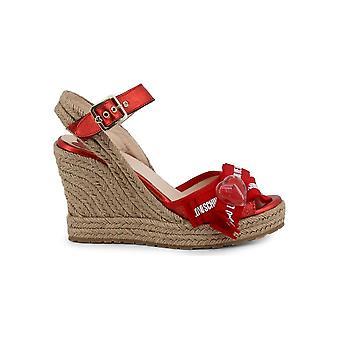 Love Moschino - sapatos - bombas de cunha - JA1631AI07JH_250A - senhoras - vermelho,bronzeado - 39