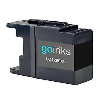 1 Cartucho de tinta preta para substituir irmão LC1280XLBk Compatível/não-OEM por Go Inks