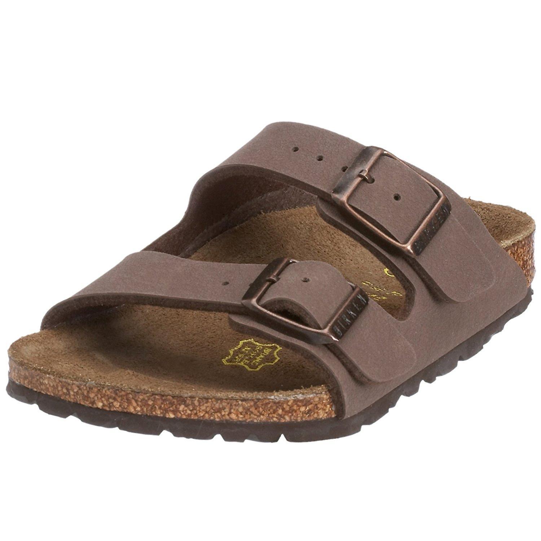 Birkenstock Womens ARIZONA Leather Open Toe Casual Slide Sandals T0dvs