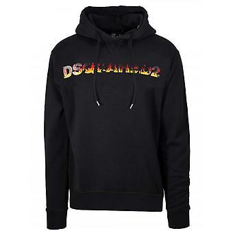 DSQUARED2 Musta Logo Huppari