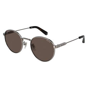 Police Lewis 01 SPLA22 0509 Total Shiny Ruthenium/Brown Sunglasses