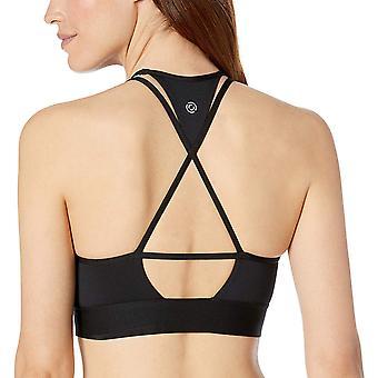 Core 10 Frauen's Plus Größe Multi-Strap Sport BH mit, schwarz Strappy, Größe 2.0