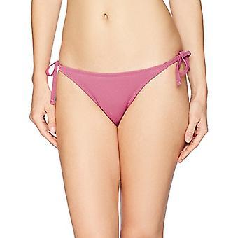 Märke - Mae Women&s Badkläder Side Tie Extra Cheeky Bikini Bottom, Berry, Large