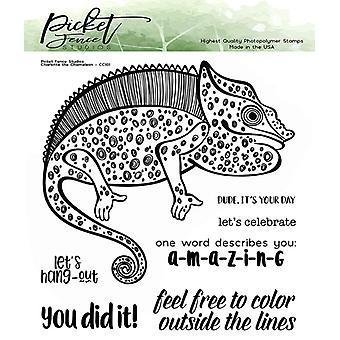 Picket Fence Studios Charlotte Kameleontti selkeät postimerkit