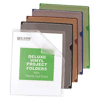 62150, Carpetas de Proyecto de Vinilo Deluxe con Respaldos De Colores, 11 x 8 1/2, 35/BX, 62150