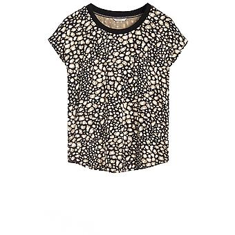 Sandwich Clothing Black & Beige Patterned Top