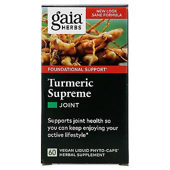 Gaia Herbs, Turmeric Supreme, Joint, 60 Vegan Liquid Phyto-Caps