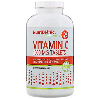 NutriBiotic, Immuniteit, Vitamine C, 1.000 mg, 500 Veganistische Tabletten