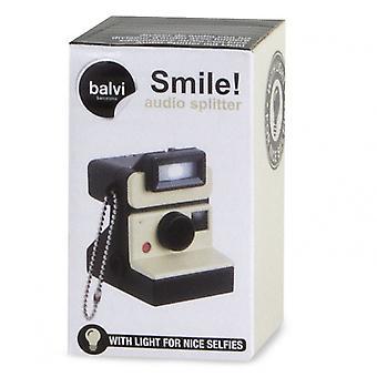 caméra instantanée splitter audio 7x 3,2 cm ABS blanc