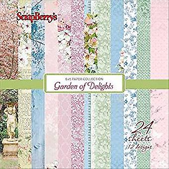 Scrapberry's Paper Collection Set 6x6 Inch Garden of Delights (24 sheets,12 designs) (SCB220610709x)