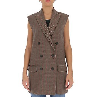 Semi-couture Y0wi02var63 Women's Brown Polyester Vest