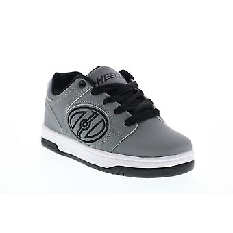 Heelys Voyager  Little Kids Gray Lace Up Lifestyle Sneakers Shoes