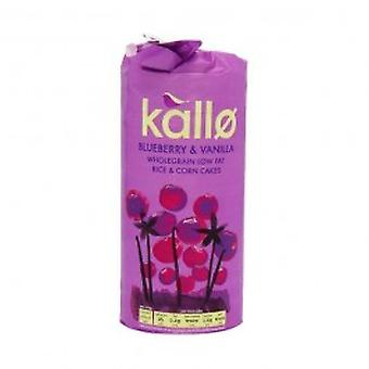 Kallo - Jumbo Corn & Rice Cakes - Blueberry & Vanilla