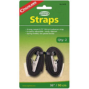 """Coghlan's 36"""" Arno Straps (2 Count), Woven Polyester, Camping Hiking Survival"""