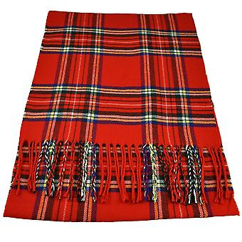 Ties Planet Red, Yellow, Blue, White & Green Tartan Checked Scarf