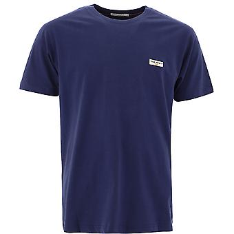 Nudie Jeans 131613b97 Heren's Blue Cotton T-shirt