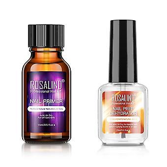 Rosalind Nail Prep Dehydrator Balancing Fluid Uv Gel Primer Bonder Manicure Set