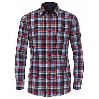 CASA MODA Casa Moda Brush Cotton Check Casual Shirt
