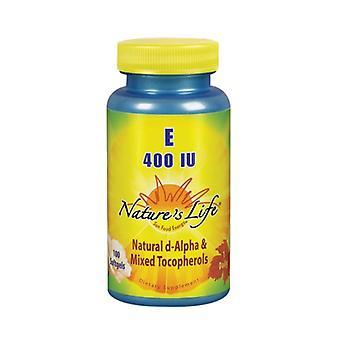 Nature's Life Vitamin E d-Alpha & Mixed Tocopherols, 400 IU, 100 softgels