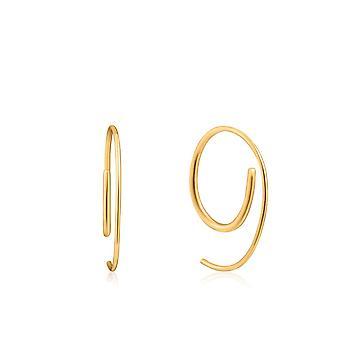 أنيا هاى الأذن نذهب تويست الذهب لامعة من خلال أقراط E023-08G