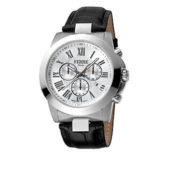 Ferre Milano Men's FM1G079L0011 Chronograph Black Leather Date Wristwatch