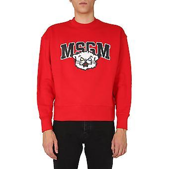 Msgm 2940mm17520759918 Mænd's Rød bomulds sweatshirt