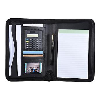 A5 Portable Business Portfolio Folder, Document Case, Organizer With Calculator
