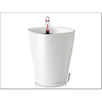 Lechuza Deltini Self Watering Pot White 18cm 14900