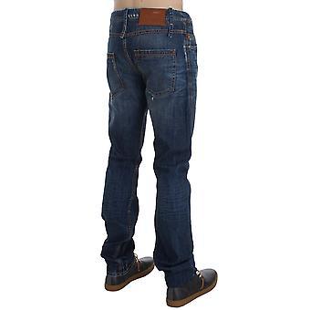 The Chic Outlet Mens Blue Wash Cotton Denim Slim Fit Jeans