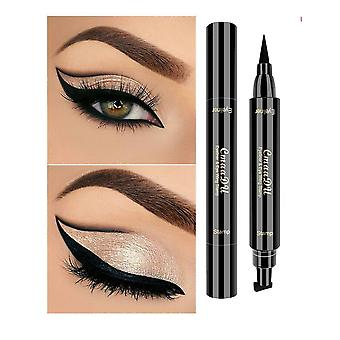 Waterproof Eyeliner - Black Makeup Pen Multi Function, Double Head