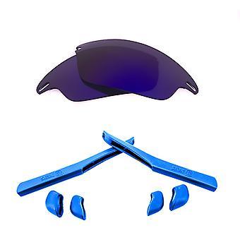 Polarized Replacement Lenses Kit for Oakley Fast Jacket Purple Mirror Blue Anti-Scratch Anti-Glare UV400 by SeekOptics