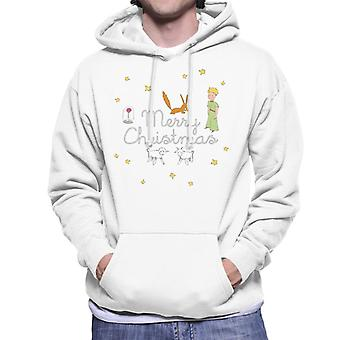 The Little Prince Christmas Stars Fox Sheep Men's Hooded Sweatshirt