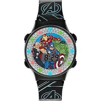 Avengers Kvartsi Digitaalinen Dial Musta Silikoni Hihna Pojat Katsella AVG4607