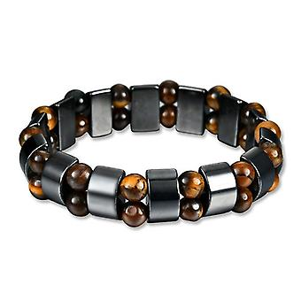 Simple Style Black Magnet Stone Chain Tiger's Eye Beads Health Care Bracelet