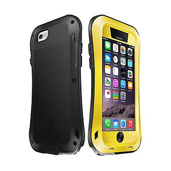 LOVE MEI for iPhone 6 Metal Ultra-thin Waterproof Dustproof Shockproof Small Waist Upgrade Version Protective Case(Yellow)
