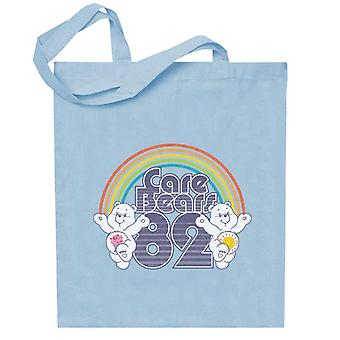 Care Bears 82 Rainbow Funshine Bear And Share Bear Totebag