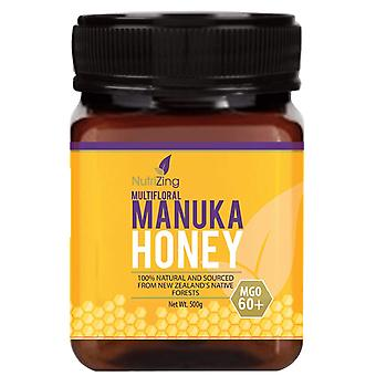 Preisgekrönter Manuka Honig 60+ - aus Neuseeland - 100% rein, dick & cremig - 500g durch Nutrizing