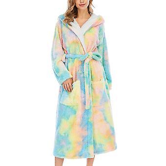 YANGFAN Femmes's Robe moelleuse Peignoir chaud avec hotte