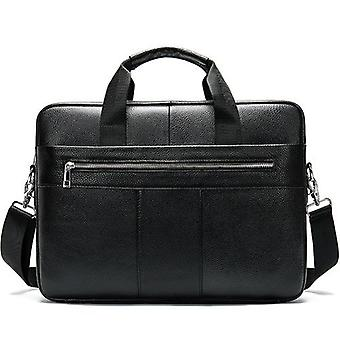 Men's Genuine Leather Laptop Business Tote Shoulder Bag