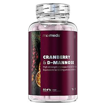 Cranberry & D-Mannose Capsules - 60 Urinary Tract Support Capsules - Vegan Supplement For Urinary Tract - UTI Support - Reinforce Natural Defences