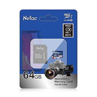Cartão de memória Netac P500 A1 Sd Card e Cartão Micro Sd Classe10 Uhs-1 Cartão Flash
