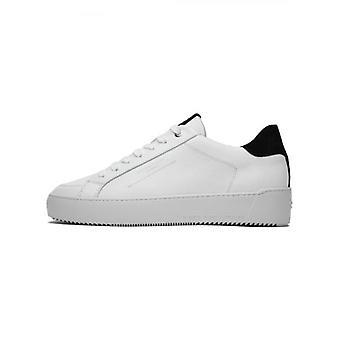 Android Homme Levendige witte zwarte lederen Zuma Sneaker