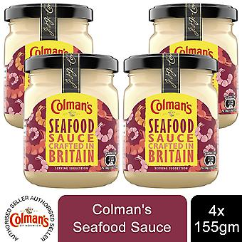 Colman's Specerijen Seafood Sauce Crafted in Britain, 4 Potten van 155g