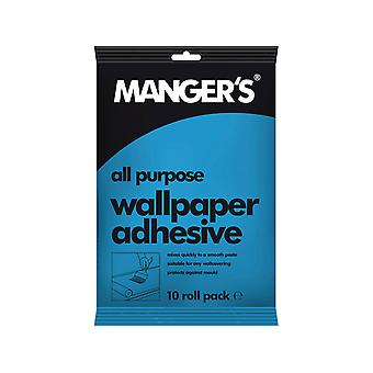Mangers All Purpose Wallpaper Adhesive 10 Roll + 30%