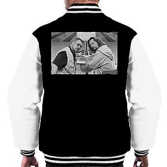 The Big Lebowski The Dude och Walter Bowling Alley Gråskala Män' s Varsity Jacket