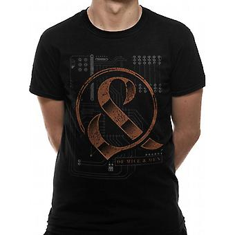 Of Mice And Men Unisex Adults Wired Design T-shirt