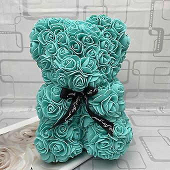 Teddy Rose Bear With Box Artificial Flower Valentine Day